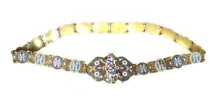 Russian Silver Enamel Belt
