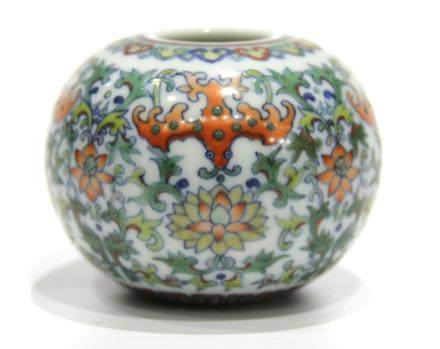 Chinese Doucai Glazed Water Pot