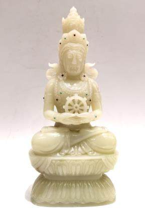 Chinese Carved Jade Buddha Figure