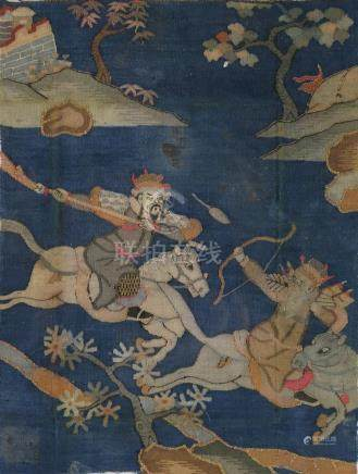 CHINESE KESI SILK EMBROIDERED PANEL