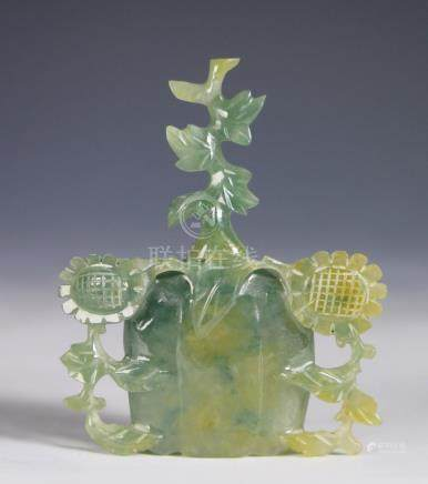 CARVED JADE BLOSSOMING FLOWERS
