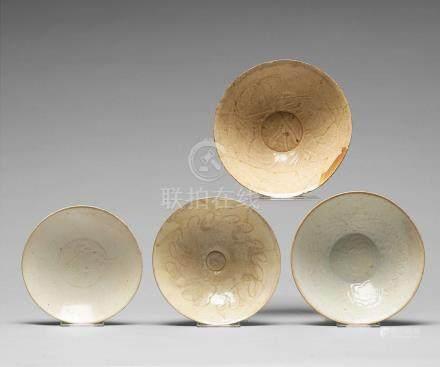 A set of four ceramic bowls, Song dynasty (960-1279).