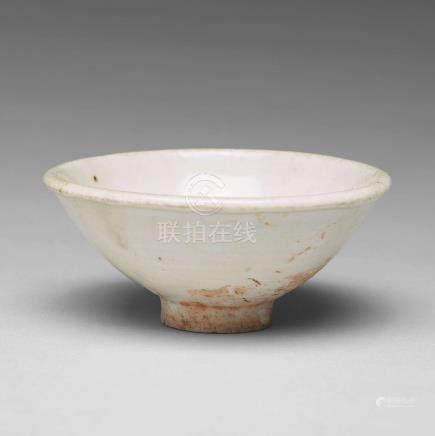 A white glazed bowl, Song dynasty (960-1279).