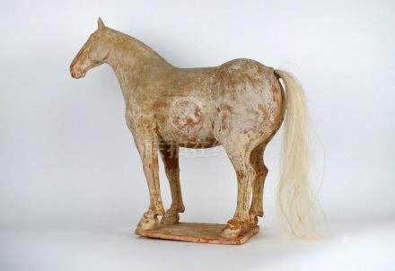 Chinese Painted Red Pottery Figure of a Horse, Oxford T
