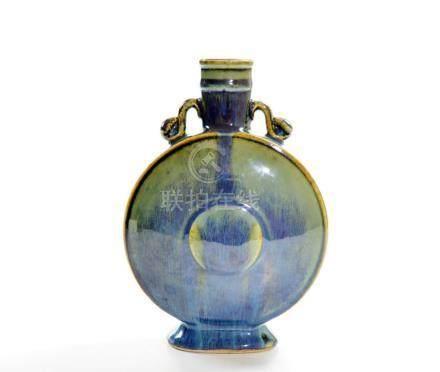 Chinese Flambe-Glazed Moonflask Vase
