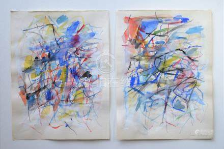 JOAN MITCHELL ATTR WATERCOLOR ON PAPER