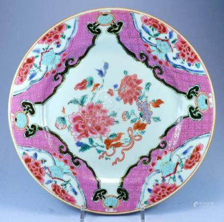 CHINESE PORC QIANLONG PLATE CA.18TH C