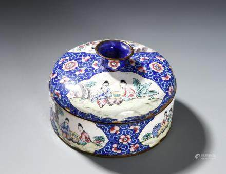 Chinese Cloisonne Box and Cover