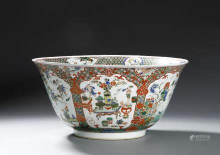 From Christie's, Chinese Kangxi Famille Verte Deep Bowl