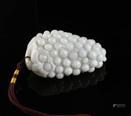 Chinese Jadeite Carving of Grapes