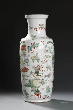 From Christie's, Chinese Kangxi Famille Verte Rouleau