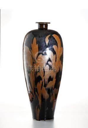 Chinese Large T'su-Chou RussetDecorated Black Glazed