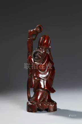 Chinese Wood Carving Figure