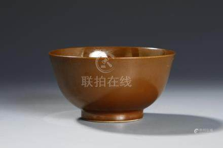 Chinese Brown Glazed Bowl