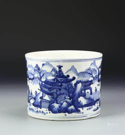 Chinese Blue and White Brushpot