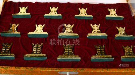 Chinese Fourteen Table Seating Card Holders