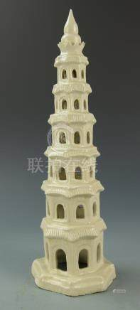 Chinese Ding Type Porcelain Tower