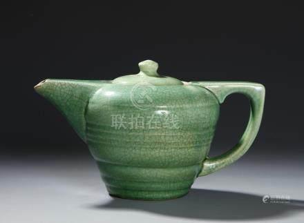 Chinese Ge Type Green Glazed Teapot