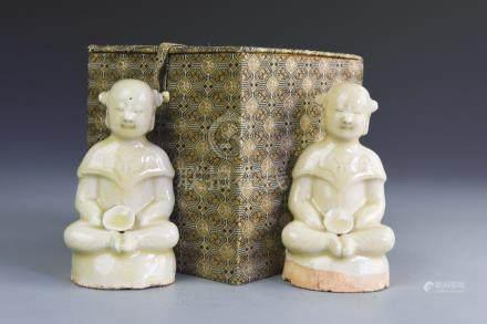 Chinese White Glazed Porcelain Figures
