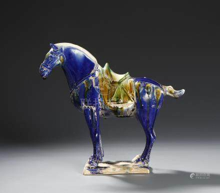 Chinese Sancai Glazed Pottery Figure of a Horse