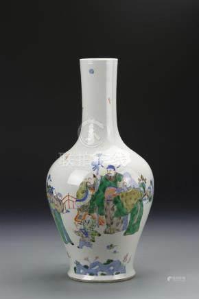 Chinese Doucai Bottle Vase