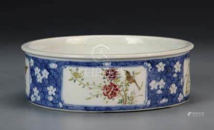 Chinese Blue, White, and Famille Rose Brushwasher