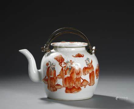 Chinese Copper Red Teapot