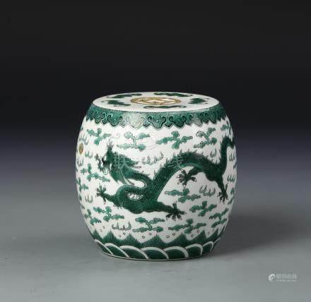 Chinese Green Dragon Jar