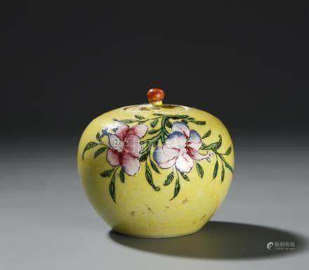 Chinese Famille Jaune Jar