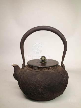 Japanese Iron Teapot - Signed