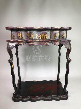 Japanese lacquer Censer Stand