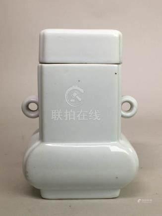 Chinese White Porcelain Covered Vase