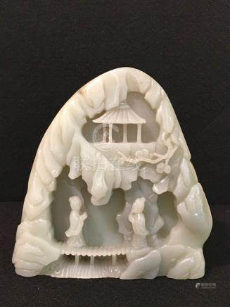 Chinese Celadon Jade Boulder