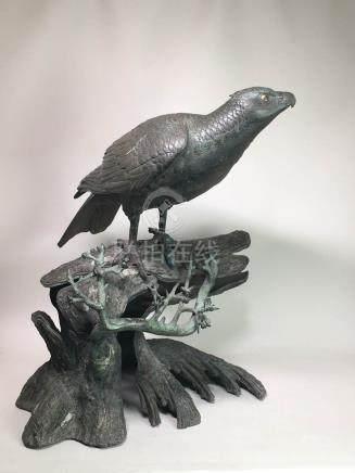 Stunning Japanese Bronze Hawk
