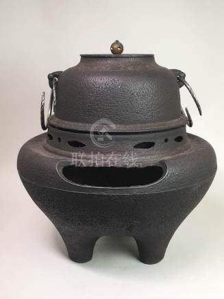 Japanese Iron Tea Brewing Censer and Pot