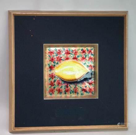 Japanese Copper Enamled Art - Won Prize