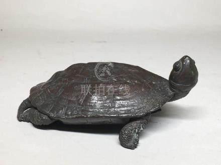 Japanese Bronze Turtle Okimono