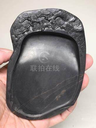 Chinese Duan Inkstone with Gold Line