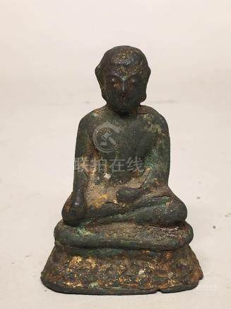 Early South East Asia Bronze Miniture Buddha
