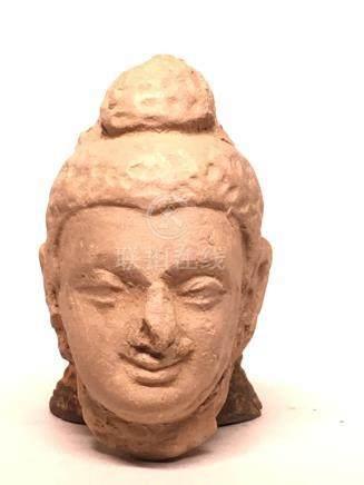Early Terra Cotta Ghandara Miniture Head