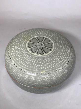 Korean Celadon Porcelain Box