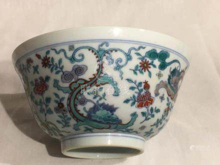 Chinese Doucai Porcelain Bowl - Dragon