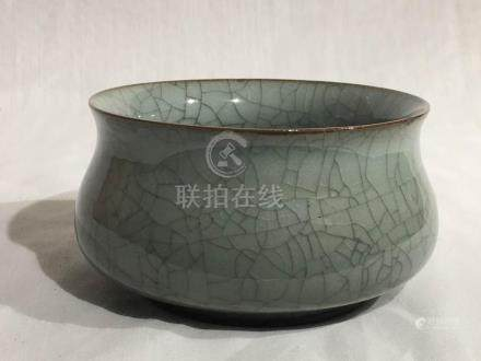 Chinese Guan Crackle Glazed Censer