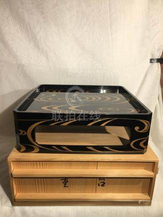 Japanese Lacquer Stand with Fitted Box
