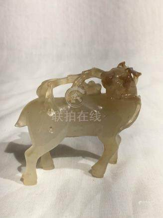 Chinese Agate Carving of Deer
