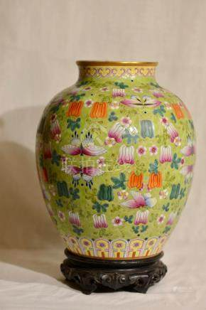 Chinese Porcelain Jar - Melon Motif