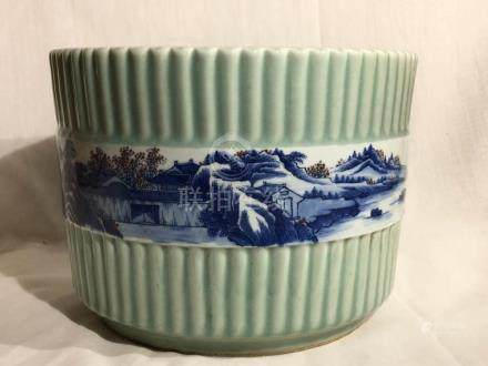Chinese Celadon Porcelain Planter