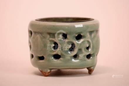 Chinese Ming Celadon Porcelain Censer
