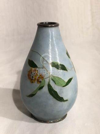 Japanese Cloisonne Vase - Berries
