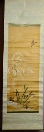 Japanese Water Color Scroll Painting - Sakai Hoitsu